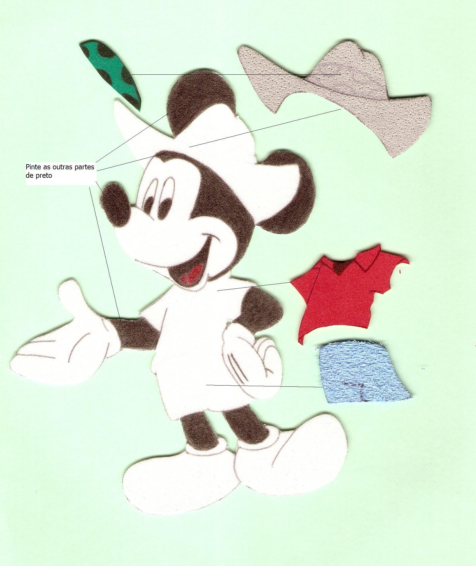 Molde Do Mickey Em Eva